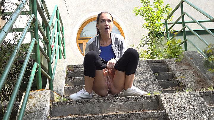 Squatting On Steps